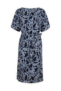 Alania Dress - Navy Muster - People Tree
