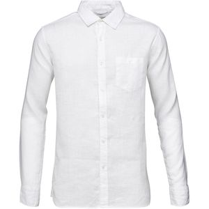 Hemd - Garment Dyed Linen Shirt - Bright White - KnowledgeCotton Apparel