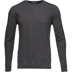 Basic O-Neck Cashmere/Cotton - GOTS -  Dark Grey Melange - KnowledgeCotton Apparel