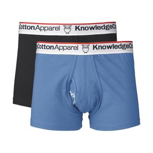 Boxershorts - Underwear 2pack Solid/Owl - Schwarz & Strong Blue - KnowledgeCotton Apparel