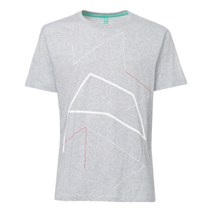 Perspective T-Shirt white&red/grey melange spotted - THOKKTHOKK