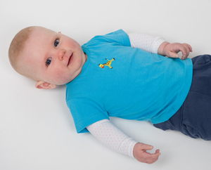T-Shirt Giraffe Stickerei - Kleine Freunde® - 3FREUNDE