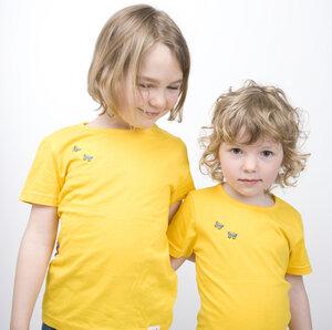 T-Shirt Schmetterlinge Stickerei - Kleine Freunde®  - 3FREUNDE