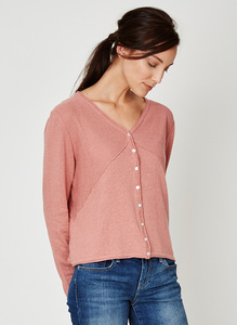 Saskia Cropped Cardigan - Terracotta - Thought | Braintree