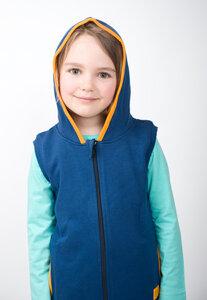 Zipper-Weste blanko mit Kapuze - Kleine Freunde® - 3FREUNDE