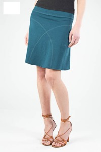 Daily Skirt aus Hanf - ocean blue - Uprise