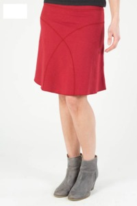 Daily Skirt aus Hanf - rot - Uprise