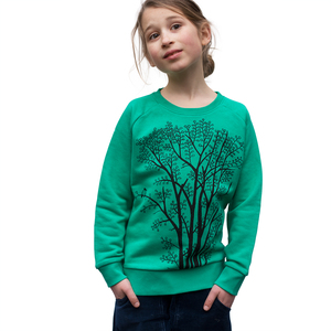 Erle mit Elster Pulli vivid green - Cmig