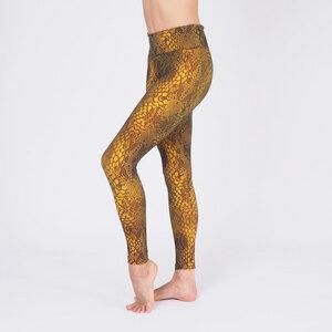 Yoga Leggings Devi olive multicolor - Kismet Yogastyle