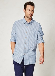 Cornish Barney Shirt - Yarn Dye Stripe - Thought