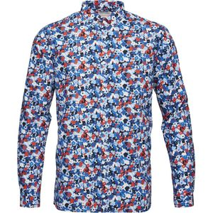 Poplin Shirt W/ All Over Flower GOTS - KnowledgeCotton Apparel