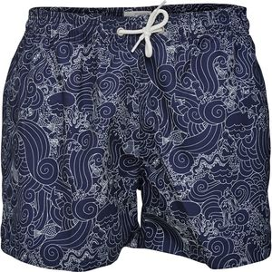 Swim Shorts W/Waste Print GRS Total Eclipse - KnowledgeCotton Apparel