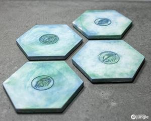 Untersetzer Hexagon Watercolor - Concrete Jungle | Betonmanufaktur