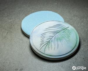 Untersetzer Palm Leaf Watercolor - Concrete Jungle | Betonmanufaktur