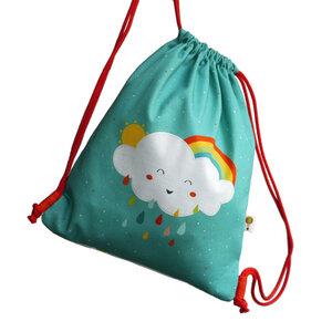 Turnbeutel Rucksack Wolke aus Bio-Baumwolle - TELL ME