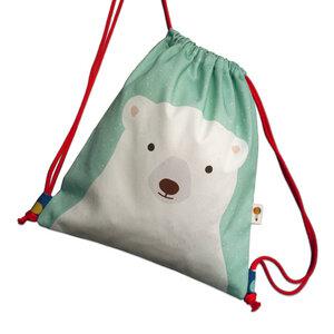 Turnbeutel Rucksack Eisbär aus Bio-Baumwolle - TELL ME