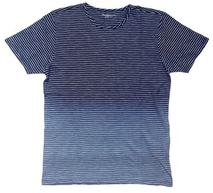 KnowledgeCotton T-Shirt yarn dyed indigo striped - KnowledgeCotton Apparel