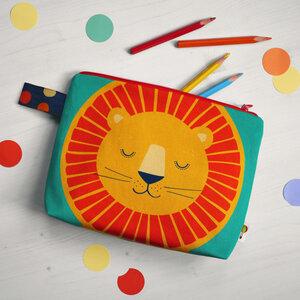 Kulturbeutel Windeltasche Löwe aus Bio-Baumwolle - TELL ME