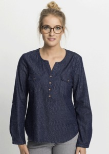Bluse #DOTS dark blue - recolution