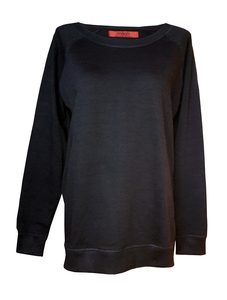 Simple Oversize Sweater Black   Bio - milch Basics