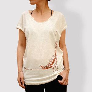 Damen T-Shirt, 'Kleiner Snack', Vintage White - little kiwi