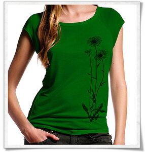 Blumen Bambus T-Shirt in grün - Picopoc