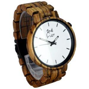 Holzuhr ⚒ handgemacht ⚒ aus Holz | 42mm | vegan | fair - 2nd Liar