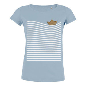 Paperboat - T-Shirt inkl. Holzbrosche für Damen - What about Tee