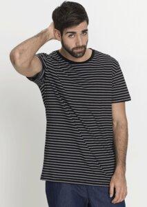 Basic T-Shirt #STRIPES schwarz weiß - recolution