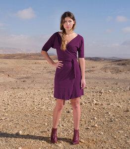 Kleid Kyra, deep purple - Jaya