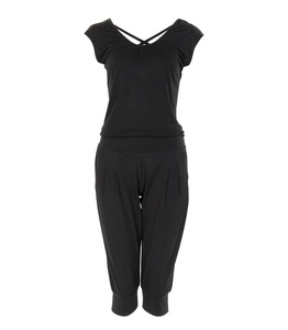 3/4 Jumpsuit Chandra, black - Jaya