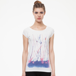 ThokkThokk Watercolour Cap Sleeve white - THOKKTHOKK