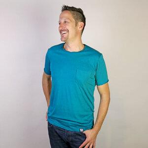 Shirt Basic Petrol Chest Pocket - Gary Mash