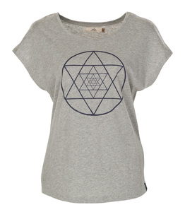 T-Shirt Isis, grey melange - Jaya