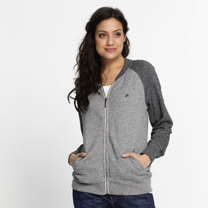 Frauen College Jacke, grau-meliert  - recolution
