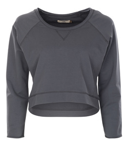 Cropped Sweater Sita, charcoal - Jaya
