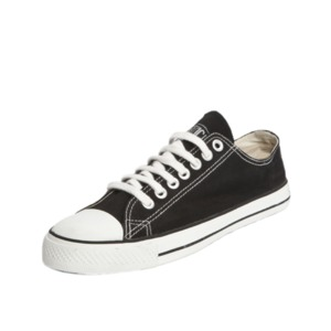 Fair Trainer Lo Cut Classic Jet Black | Just White - Ethletic