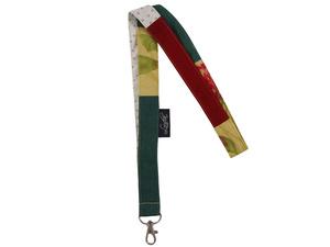 Leesha WILDe Upcycling Schlüsselband mit Karabiner aus Stoffesten - Leesha