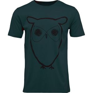 Single Jersey With Owl Print in grün - GOTS - KnowledgeCotton Apparel