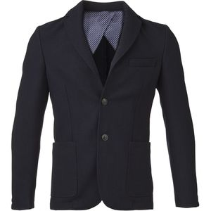 Knitted Pique Blazer - Total Eclipse - KnowledgeCotton Apparel