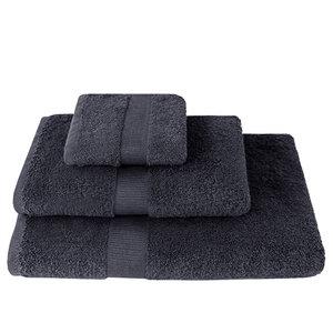 Handtücher weiche Qualität Anthrazit-Grau 100% Bio-Baumwolle (kbA) verschiedene Größen - NATUREHOME