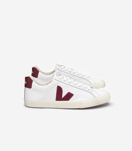 SNEAKER - ESPLAR LEATHER WHITE MARSALA - Veja