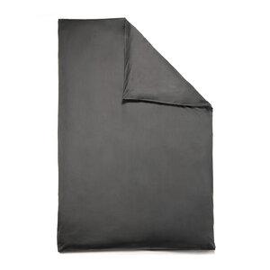 Bio-Bettbezug VIVO 100% Baumwolle (kbA) Satin-Qualität Schiefer-Grau Auswahl Größe  - NATUREHOME