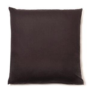 Kopfkissen-Bezug VIVO 100% Bio-Baumwolle (kbA) Satin-Qualität Espresso-Braun 40x80 oder 80x80 - NATUREHOME