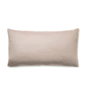 Kopfkissen-Bezug VIVO 100% Bio-Baumwolle (kbA) Satin-Qualität Sand-Natur Größe 40x80 oder 80x80 - NATUREHOME