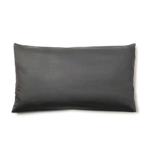 Kopfkissen-Bezug VIVO 100% Bio-Baumwolle (kbA) Satin-Qualität Schiefer-Grau 40x80 oder 80x80 - NATUREHOME