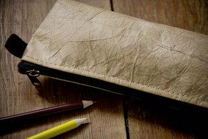 Federmappe Etui aus recycelten Blättern, laminiert - By Copala