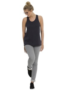 Fair trade Tank Top Frauen CASUAL #TWISTED navy - recolution