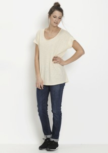 Fair trade Loose Tee Frauen #TENCEL bone white - recolution