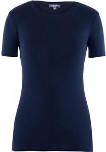 Lady T-Shirt Round Neck Black Iris - Naturaline